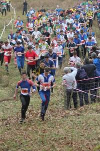 My effort at a banter start in the JK relay, notice I'm the only one with my map still closed! Photo cred Brian Ward