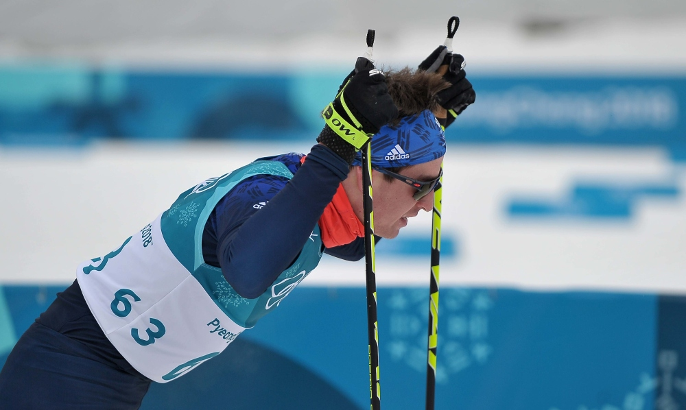 Mens 15km Skiathlon. Cross country skiing. Pyeongchang2018 winter Olympics. Alpensia cross country centre. Alpensia. Gangneung. Republic of Korea. 11/02/2018. ~ MANDATORY CREDIT Garry Bowden/SIPPA - NO UNAUTHORISED USE - +44 7837 394578